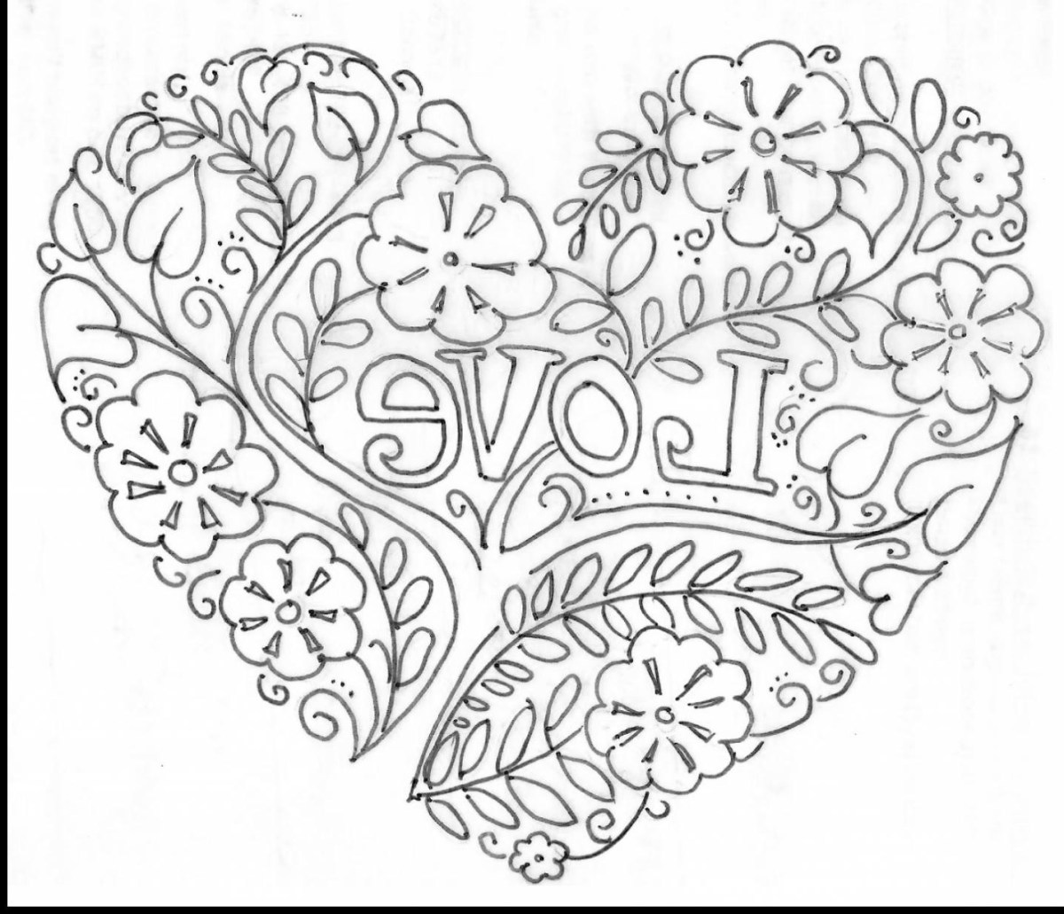 Heart Coloring Pages For Adults Heart Coloring Pages For Adults F5to Surprising Valentine Heart