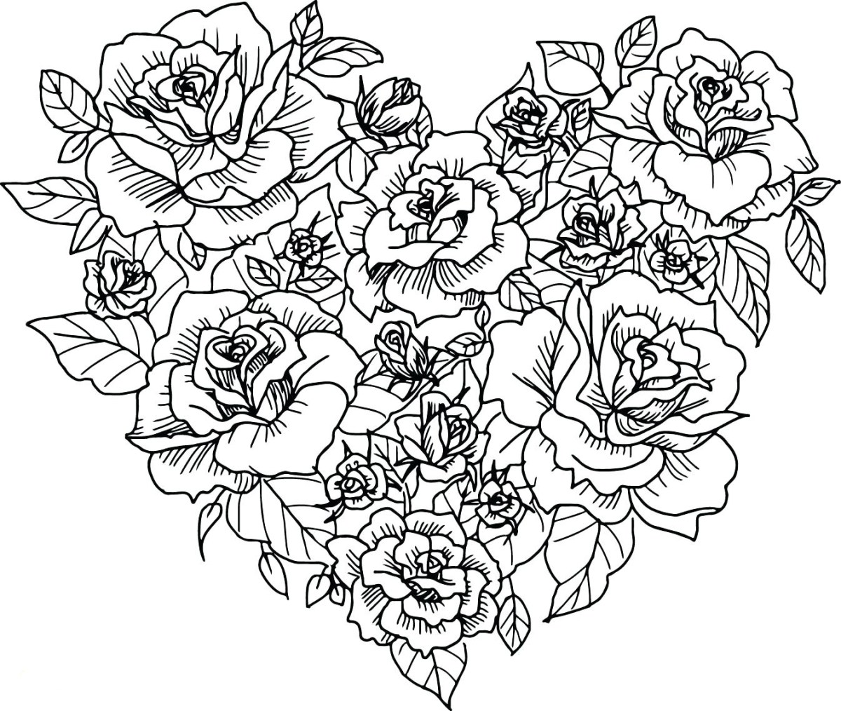 Heart Coloring Pages For Adults Hearts Coloring Pages For ...
