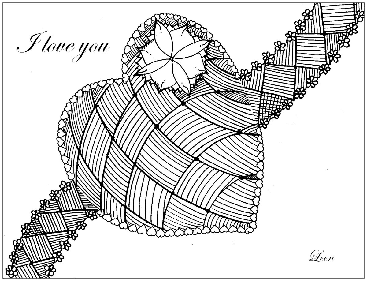 Heart Coloring Pages For Adults Small Heart Coloring Pages ...