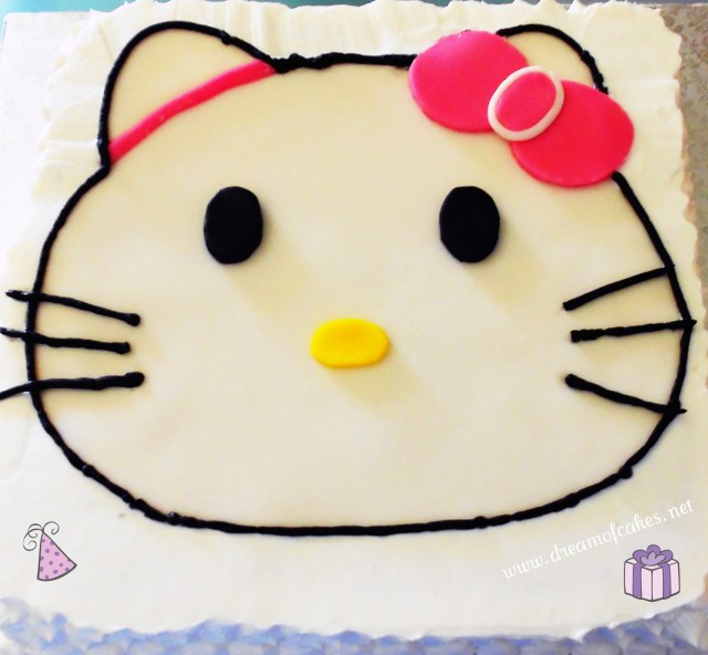 Hello Kitty Birthday Cakes Dream Of Cakes Hello Kitty Birthday Cake