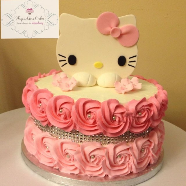 Hello Kitty Birthday Cakes Hello Kitty Birthday Cake For A 40th Birthday Buttercream Rosettes