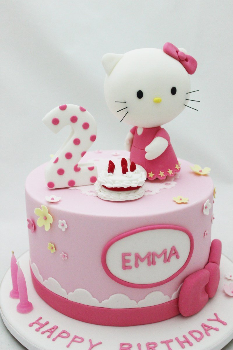 Magnificent Hello Kitty Birthday Cakes Hello Kitty Cake For 2Nd Girls Birthday Personalised Birthday Cards Paralily Jamesorg