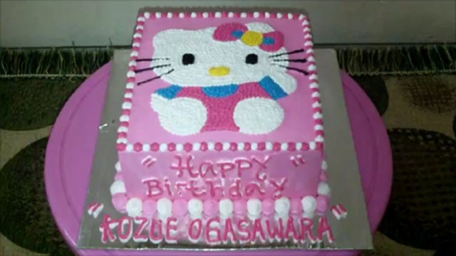 Hello Kitty Birthday Cakes Hello Kitty Cake How To Make Birthday Cake Square Youtube