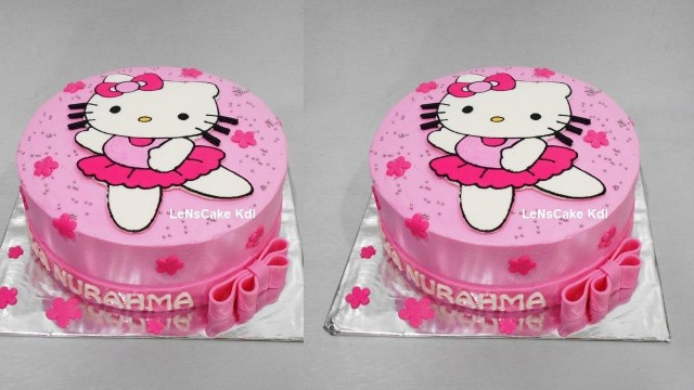Hello Kitty Birthday Cakes Hello Kitty Cake Tutorial Birthday Cake Lenscake Kdi Youtube