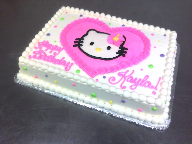 Hello Kitty Birthday Cakes Polka Dotted Hello Kitty Birthday Cake Main Made Custom Cakes
