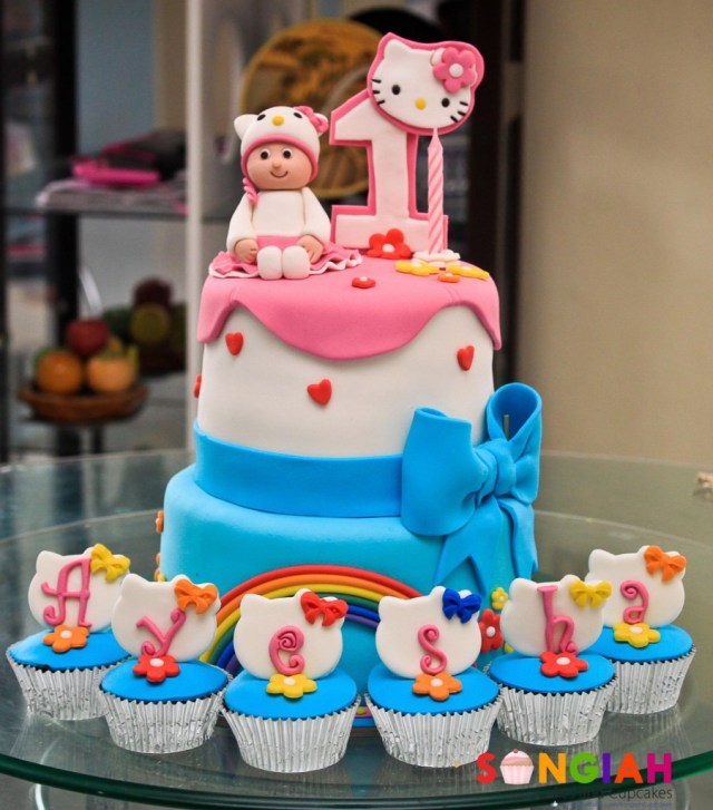 Hello Kitty Birthday Cakes Songiah Ayeshas Hello Kitty Birthday Cake