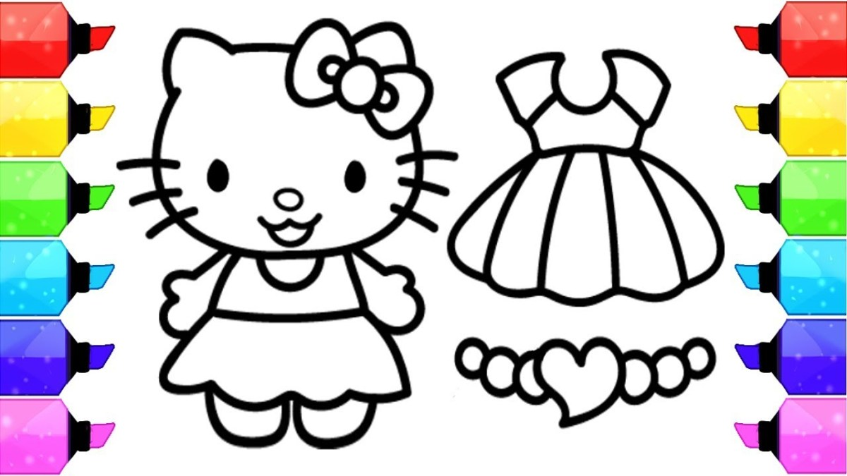 Hello Kitty Coloring Pages Hello Kitty Coloring Pages How To Draw Hello Kitty Dress Up Game