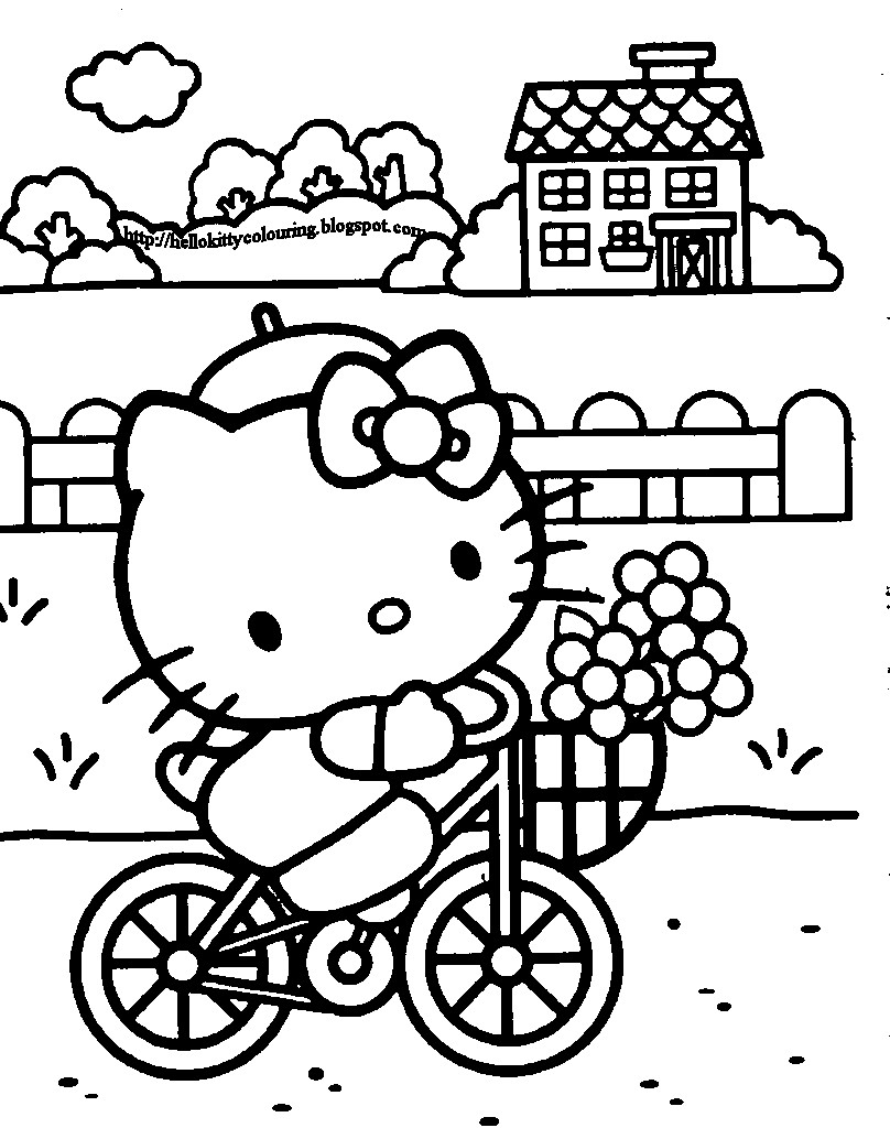 Hello Kitty coloring pages on Coloring-Book.info | 1024x808