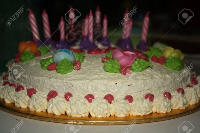 Homemade Birthday Cakes Homemade Birthday Cake Stock Photo Picture And Royalty Free Image