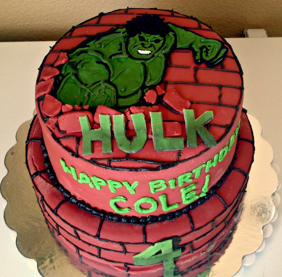 Groovy Hulk Birthday Cakes Hulk Birthday Cake Cakecentral Birijus Com Funny Birthday Cards Online Alyptdamsfinfo