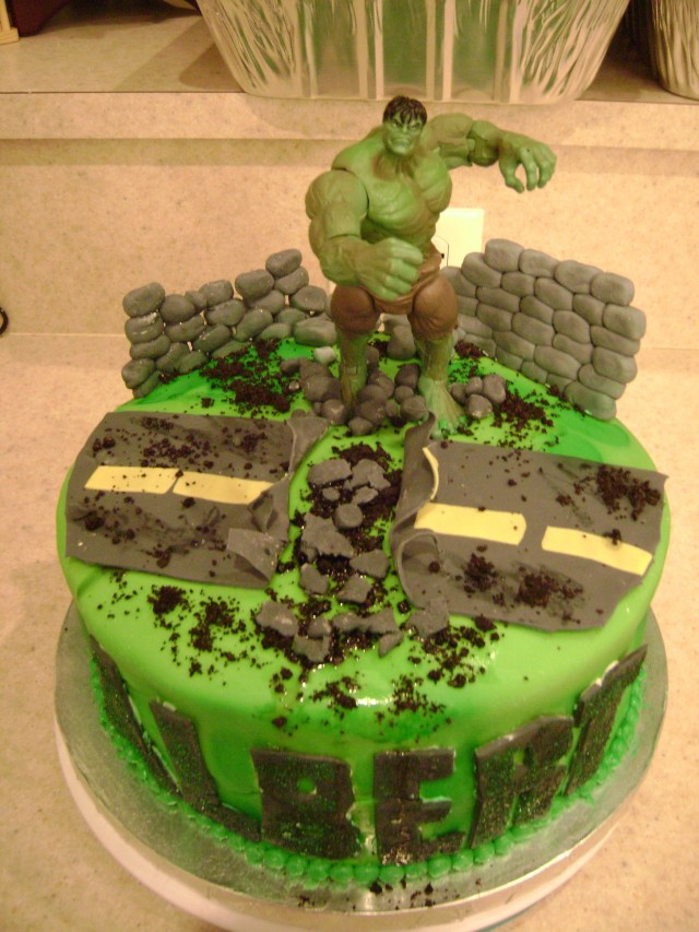 Hulk Birthday Cakes Hulk Smash Birthday Cake Hulk Smash Birthday Cake I Made For My