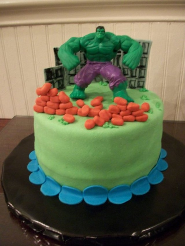 Hulk Birthday Cakes Incredible Hulk Birthday Cake Cakecentral