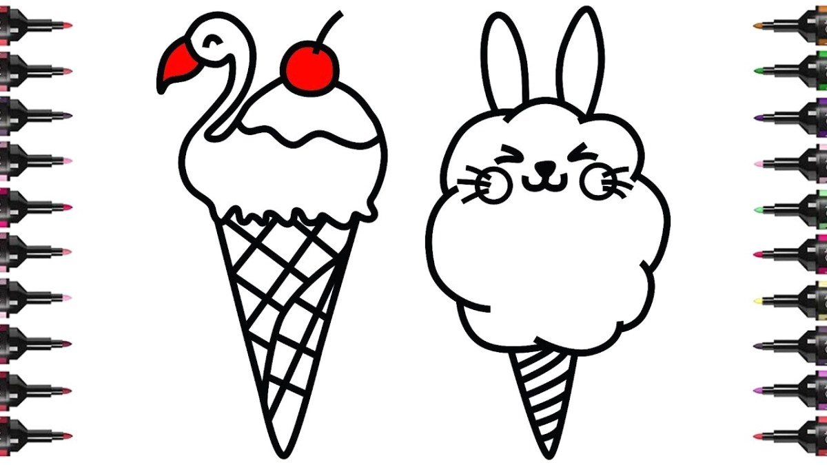 Ice Cream Coloring Pages How To Draw And Color Cute Ice