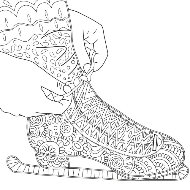 Ice Skating Coloring Pages Ice Skaters Coloring Pages
