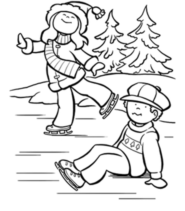 Ice Skating Coloring Pages Ice Skating Coloring Pages Coloring Home