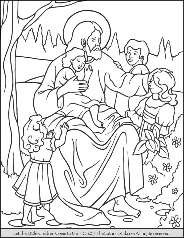 Jesus Coloring Page Jesus Let The Little Children Come To Me Coloring Page