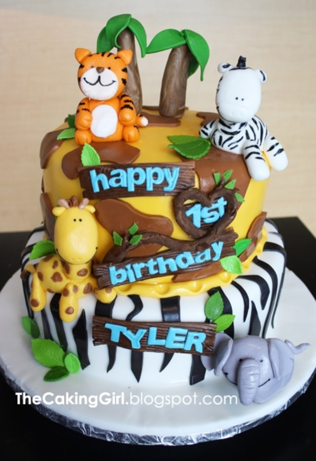 Jungle Birthday Cake Themed For Kids Cakecentral