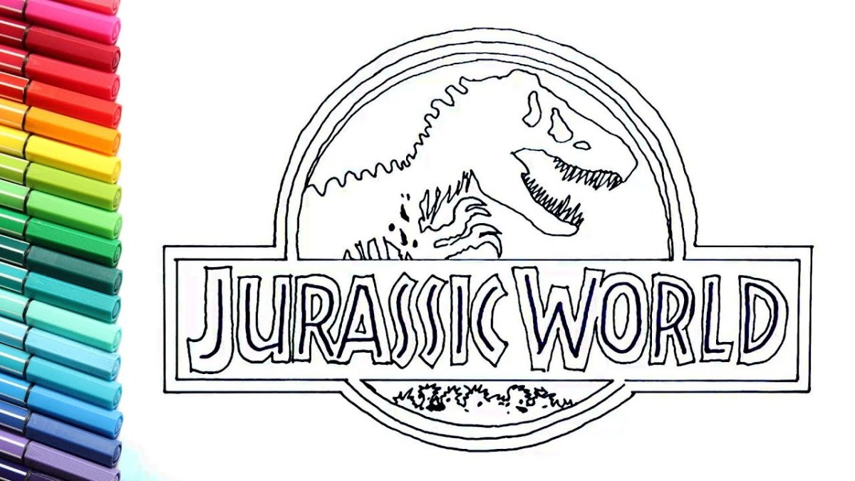 Jurassic Park Coloring Pages Drawing And Coloring Jurassic