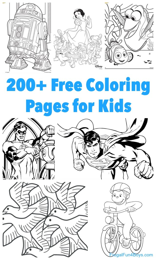 Free Printable Coloring Sheets For Boys, Download Free Clip Art ... | 1066x640