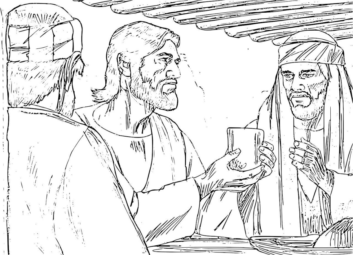 Last Supper Coloring Page Holy Thursday Coloring Pages ...