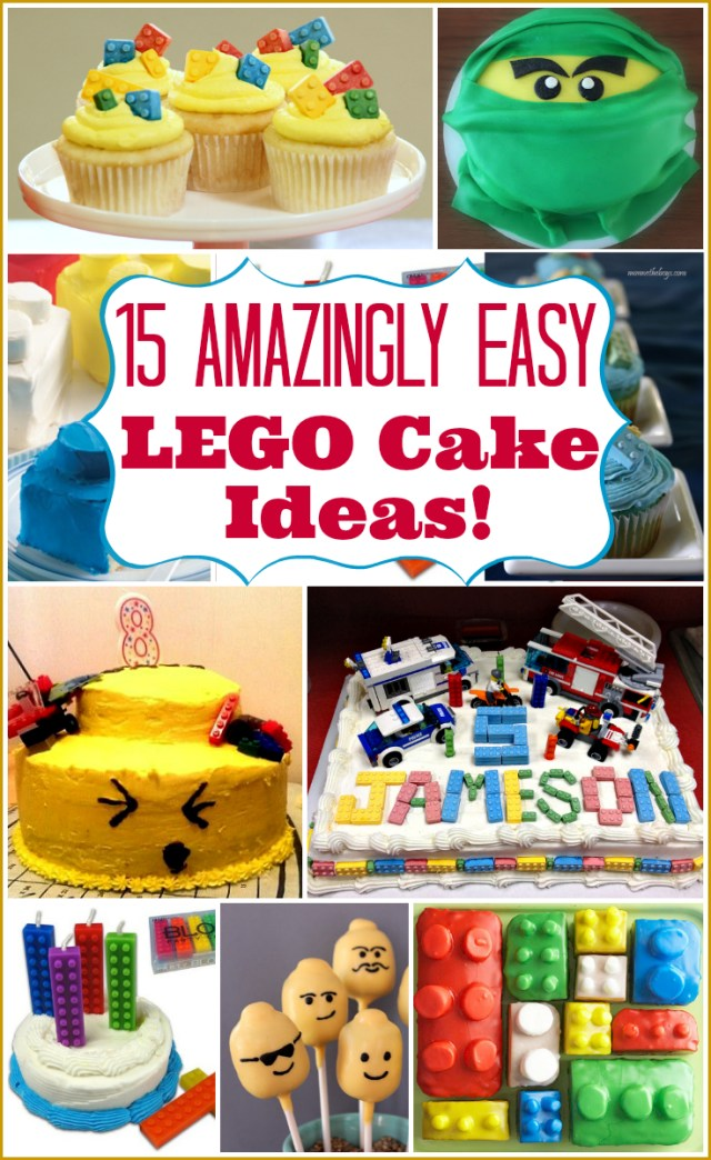 Lego Birthday Cake Ideas Lego Cake Ideas Over 15 Seriously Easy Lego Birthday Cakes