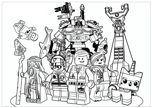 Lego Movie Coloring Pages Lego Movie Movies Adult Coloring Pages