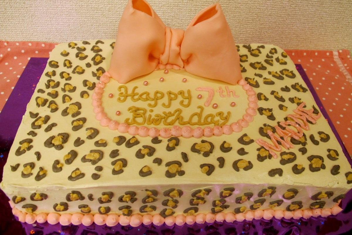 Stupendous Leopard Birthday Cake 11 Leopard Print Birthday Sheet Cakes Photo Funny Birthday Cards Online Elaedamsfinfo