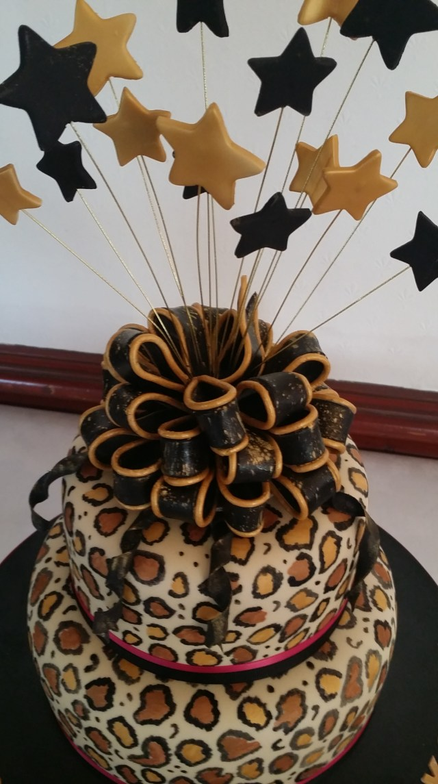 Leopard Birthday Cake Leopard Print 40th Birthday Cake The Clever Little Cake Company