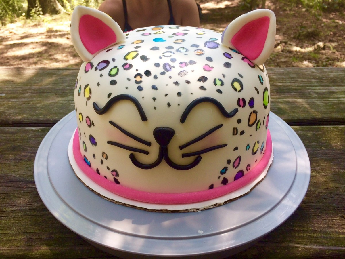 Super Leopard Birthday Cake Rainbow Leopard Print Cake Cakes Ive Made Funny Birthday Cards Online Elaedamsfinfo
