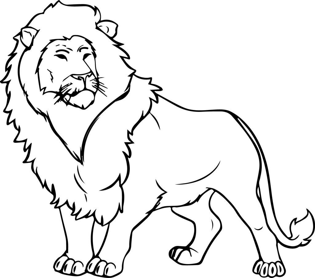 Lion Coloring Pages Lion Color Page With Coloring Pages Of Free Library 4 Bokamosoafrica Birijus Com