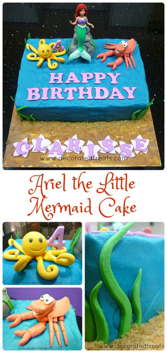 Cool Little Mermaid Birthday Cakes Ariel The Little Mermaid Birthday Birthday Cards Printable Nowaargucafe Filternl