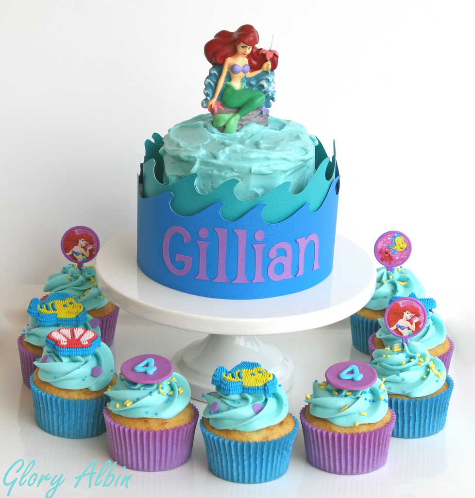 Fabulous Little Mermaid Birthday Cakes Little Mermaid Birthday Cakes Funny Birthday Cards Online Inifofree Goldxyz