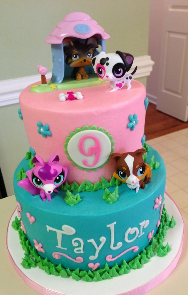 Littlest Pet Shop Birthday Cake Littlest Pet Shop Buttercream Cake With Toy Figures This May Be The