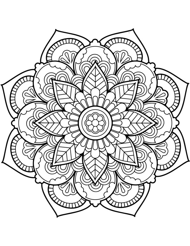 Mandala Coloring Pages Coloring Page Mandala Coloring Page Floral Graphic For Adults