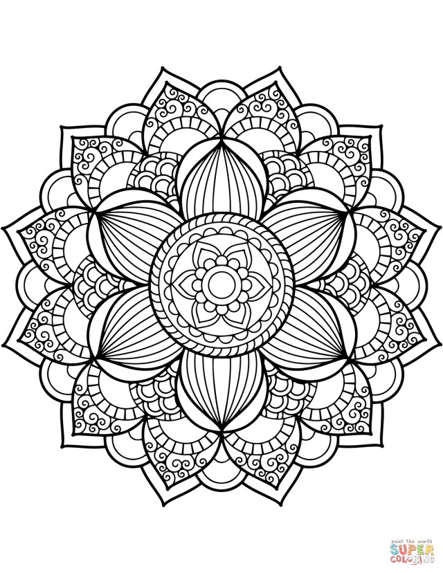 Mandala Coloring Pages Floral Mandalas Coloring Pages Free Coloring Pages