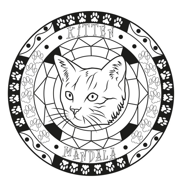 Mandala Coloring Pages Mandala Cat Malas Adult Coloring Pages