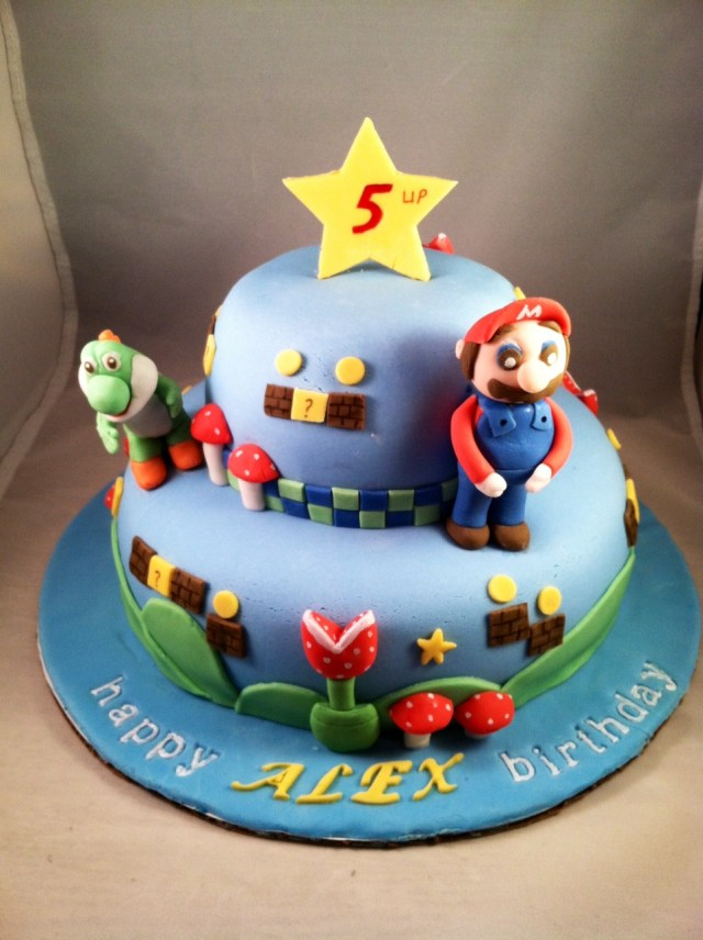 Mario Bros Birthday Cake Mario Bros Themed Cake Super Mario Bros Birthday Cake Fun Sugar