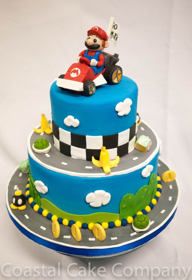 Fantastic 32 Brilliant Photo Of Mario Bros Birthday Cake Birijus Com Personalised Birthday Cards Veneteletsinfo