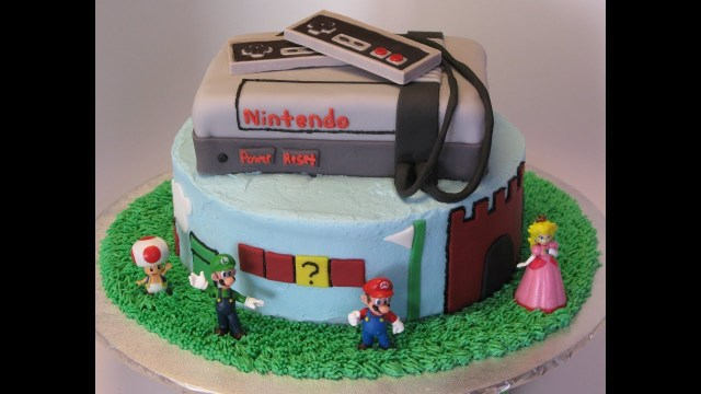 Mario Bros Birthday Cake Nintendos Super Mario Brothers Birthday Cake Youtube