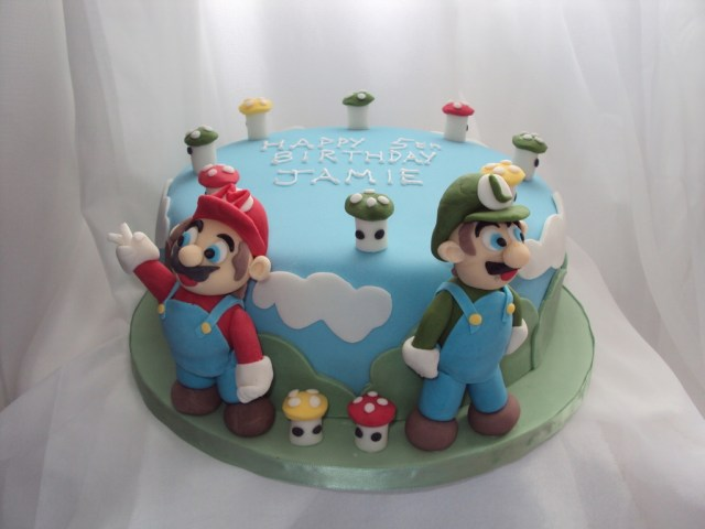 Mario Bros Birthday Cake Super Mario Bros 5th Birthday Cake Cakecentral