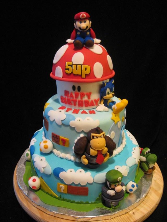Mario Bros Birthday Cake Super Mario Bros Cake Cakecentral