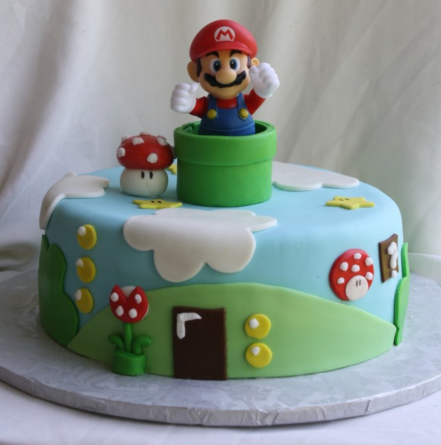 Mario Bros Birthday Cake Super Mario Bros Cake