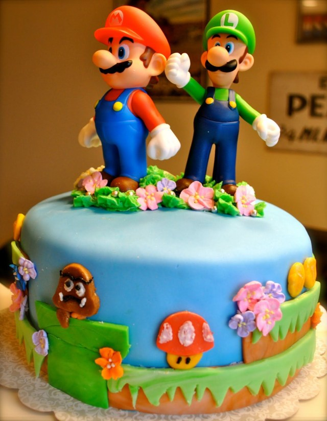 Mario Bros Birthday Cake Supermariocakeideas Super Mario Bros Cake Party Stuff In