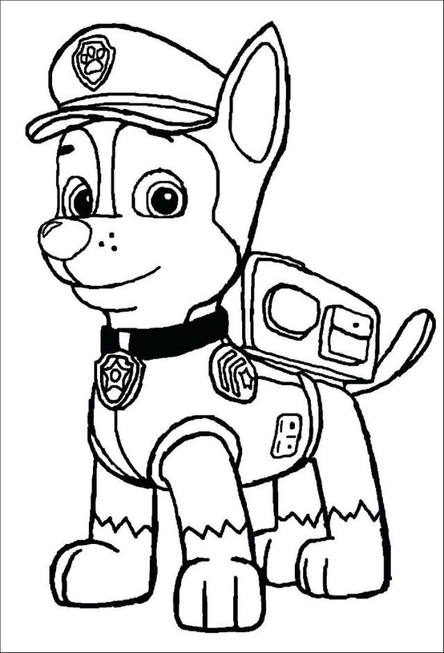 Paw Patrol Malvorlagen Chase - x13 ein Bild zeichnen