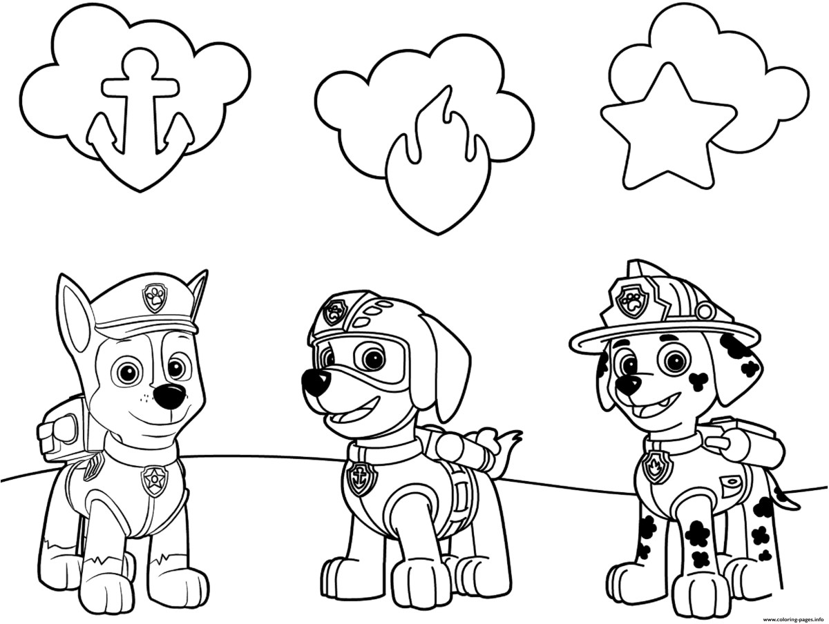 Marshall Paw Patrol Coloring Page Paw Patrol Coloring Pages Info ...