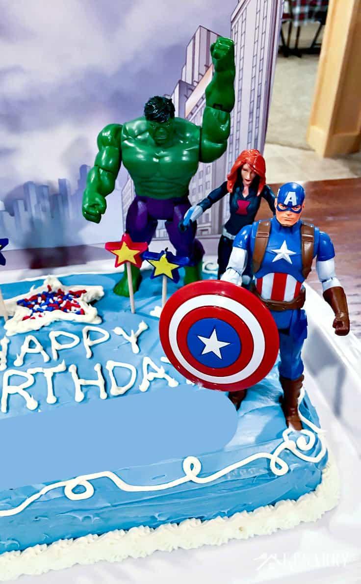Marvel Birthday Cakes Avengers Birthday Cake Idea And Party Supplies Kenarry