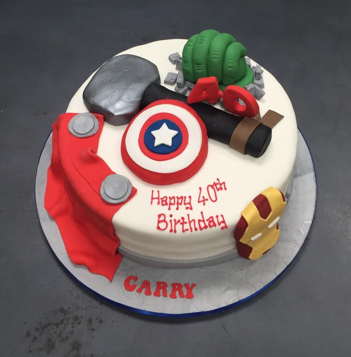 Marvel Birthday Cakes Childrens Birthday Cakes Belfast