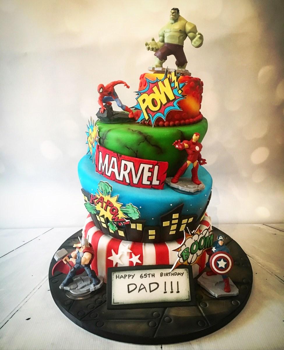 Swell Marvel Birthday Cakes Marvel Vs Dc Birthday Cake Carters 3Rd Funny Birthday Cards Online Elaedamsfinfo