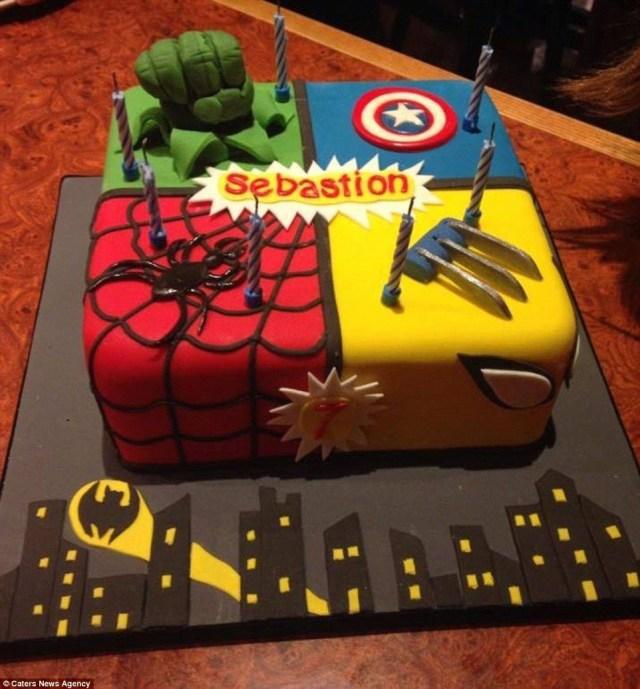 Marvel Birthday Cakes Movie Loving Grannys Amazing Cakes Inspired Blockbuster Films