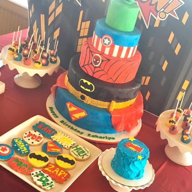 Marvel Birthday Cakes Superhero Marvel Cake The Hudson Cakery